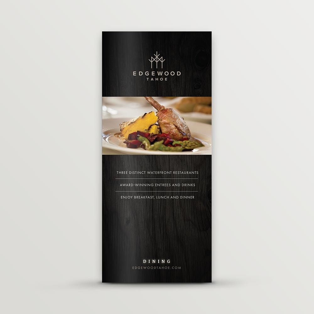 Edgewood Tahoe dining brochure