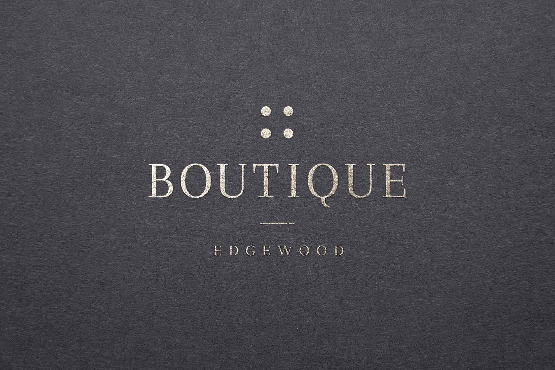 The Boutique Edgewood Tahoe branding